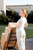 Woman Moving — Stock Photo