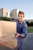 Moving Man — Stock Photo