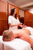 Woman Giving Percussive Massage — Stock Photo