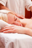 Relaxed Woman in Spa — Stock Photo