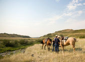 Cowboy Scene — Stock Photo