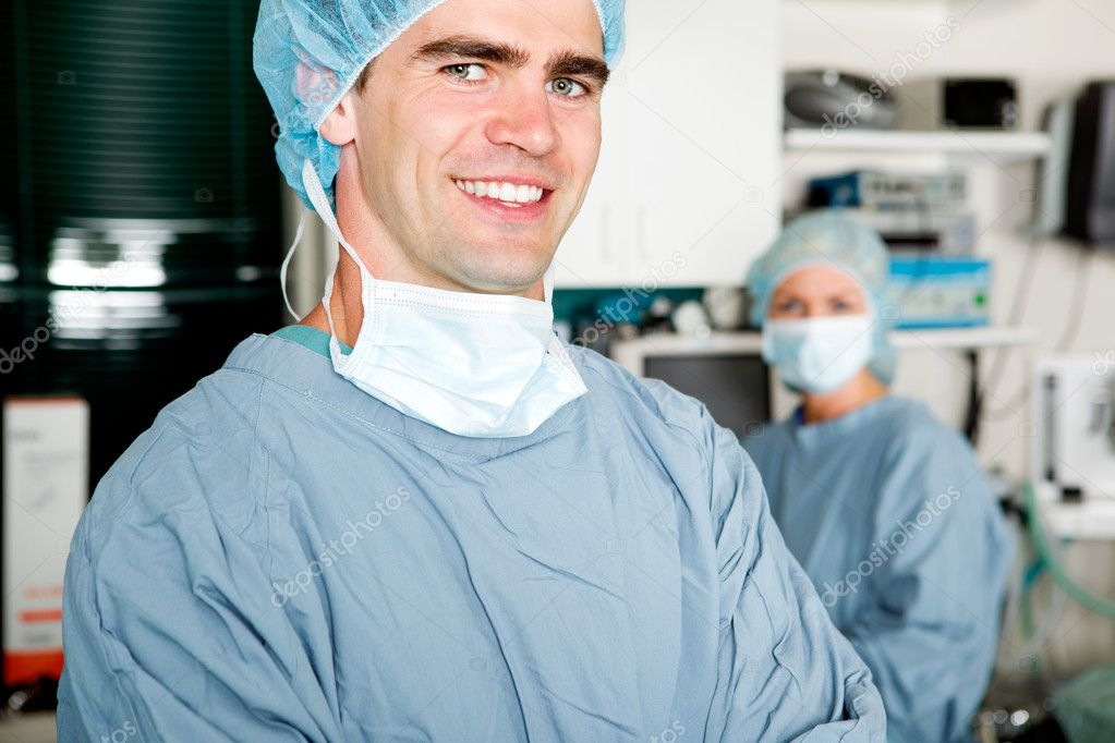 A portrait of a surgeon in a small operating room — Stock Photo #5711674