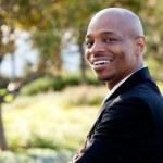 Mitte Erwachsene Afroamerikaner Kaufmann — Stockfoto
