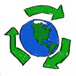 Stock Photo: Recycle World