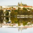 Prague Castle and River - Stock Photo