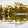 Prague Castle and River - Zdjęcie stockowe
