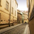 Quaint Street Prague - Stock Photo