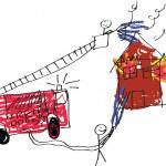 Fireman Image — Stock Photo