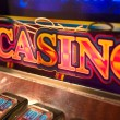 Slot Machine Detail - Stock Photo
