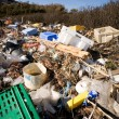Garbage on Ocean Coast - Stock Photo