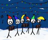 Christmas Carol singers — Stock Photo