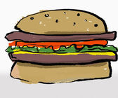 Hamburger — Foto de Stock