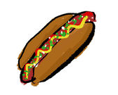 Hotdog — Stock Photo