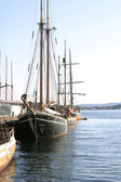 Old Wooden Sailing Ships — Stock Photo