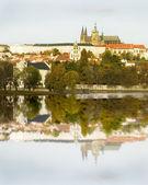 Prague Castle and River — Stock Photo
