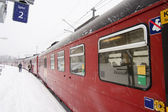 Winter Train Station — Stock Photo