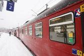 Winter Train Station — Stock Photo