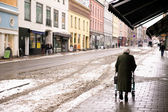 Old Woman with Walker — Foto de Stock