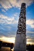 Vigeland Park Monolith — Stock Photo