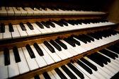 Pipe Organ Keyboard — Stock Photo