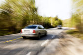 Speeding Car — Stock Photo