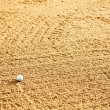 Stock Photo: Golf Ball in Bunker