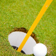Golf Ball Hole — Stock Photo