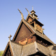 Stave Church Detail - Foto Stock