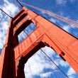 Gold Gate Bridge Detail - Stock Photo