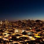město v noci — Stock fotografie