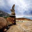 Rock Stack Sculpture - Stock Photo