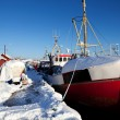Winter Snow Boat — Stock Photo