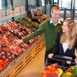Couple Buying Fruits and Vegetables — Stock Photo #5733423