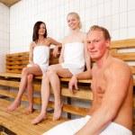 Friends Portrait in Sauna — Stock Photo #5733634