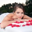 Beautiful woman at a day spa — Stockfoto