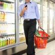Royalty-Free Stock Photo: Man in Supermarket