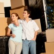 Moving Couple - Stock Photo