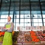 Grocery Store Owner Portrait — Foto de Stock