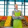 Stock Photo: Grocery Store Owner