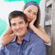 Stock Photo: Portrait of a loving, young couple