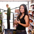 Asian Woman in Supermarket — Stock Photo #5735168