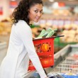 Woman Buying Frozen Food - Stock Photo