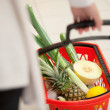 Foto Stock: Supermarket Basket Detail