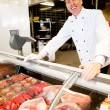 Stock Photo: Happy Butcher