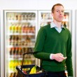 Stock Photo: Grocery Store Man