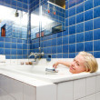 Woman in a Spa Bath — Stock Photo