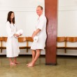 Man and Woman in Spa Recption — Stock Photo
