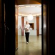 Woman in old Spa Interior — Stock Photo