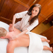 Professional Massage Therapist — Stock Photo