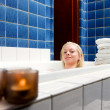 Female in 1920s Spa and Bath — Stock Photo